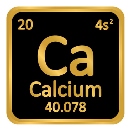 Periodic table element calcium icon on white background. Vector illustration.