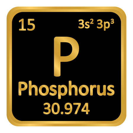 Periodic table element phosphorus icon on white background. Vector illustration. Ilustração