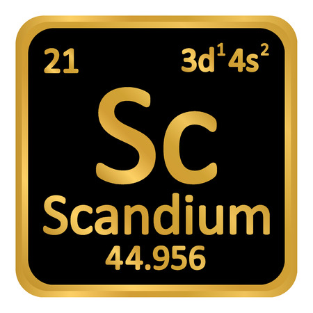 Periodic Table Element Scandium Icon On White Background Vector