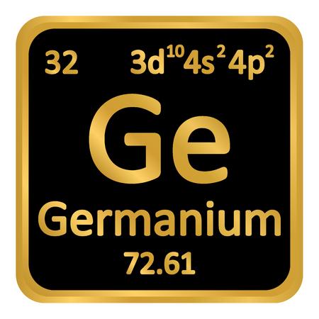 Periodic table element germanium icon on white background. Vector illustration.