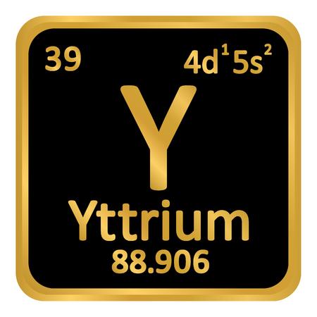 Periodic table element yttrium icon on white background. Vector illustration. Illustration