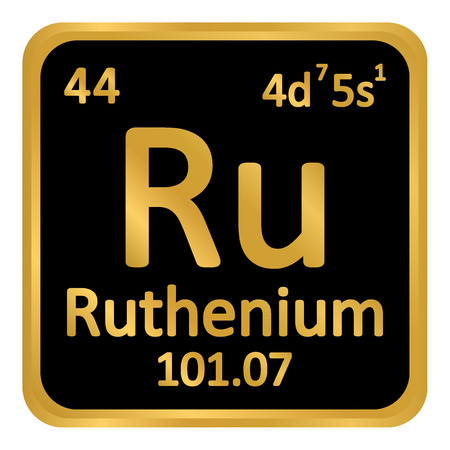 Periodic table element ruthenium icon on white background. Vector illustration. Imagens - 98954759