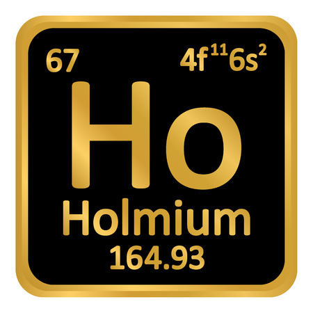 Periodic table element holmium icon on white background. Vector illustration. Ilustração