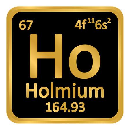 Periodic table element holmium icon on white background. Vector illustration. Illustration