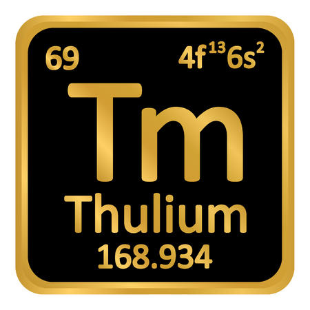 Periodic table element thulium icon on white background. Vector illustration. Illustration
