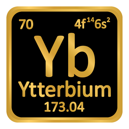 Periodic table element ytterbium icon on white background. Vector illustration.
