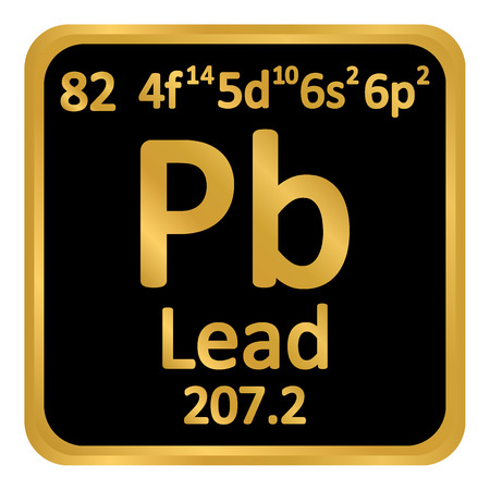 Periodic table element lead icon on white background. Vector illustration. Ilustração