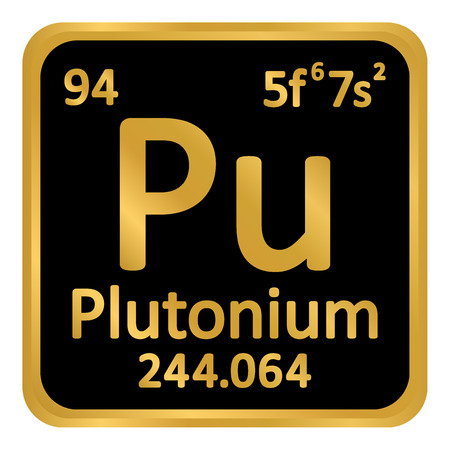 Periodic table element plutonium icon on white background. Vector illustration.