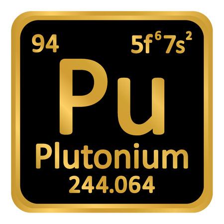 Periodic table element plutonium icon on white background. Vector illustration. Banco de Imagens - 99275751