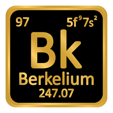 Periodic table element berkelium icon on white background. Vector illustration.