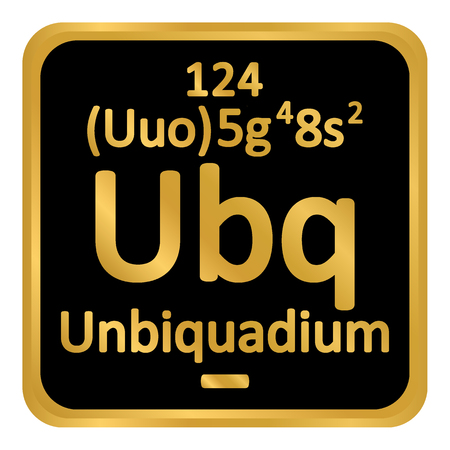 Periodic table element unbinilium icon on white background. Vector illustration. Banco de Imagens - 99182042