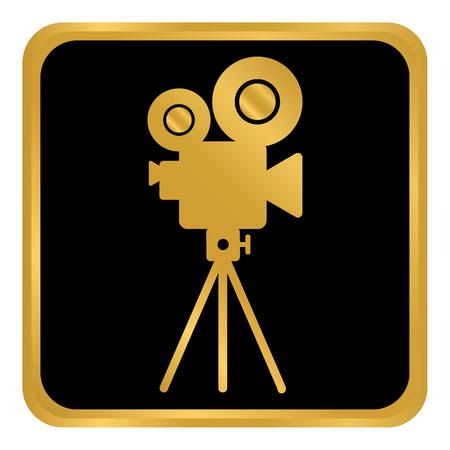Video camera button on white background. Vector illustration. Illustration