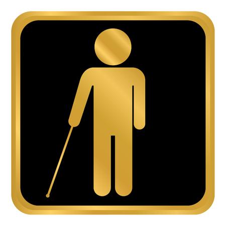 Blind disabled button on white background. Vector illustration. Illustration
