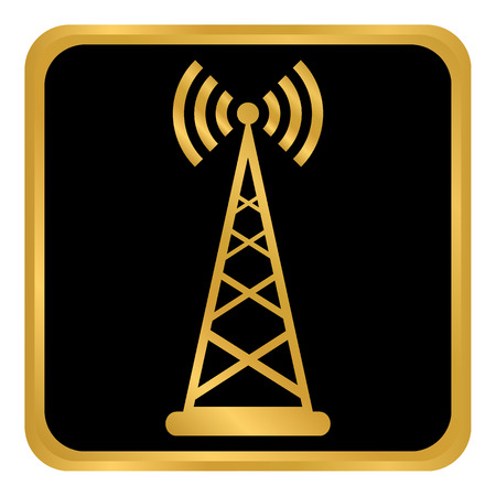 Transmitter button on white background. Vector illustration.