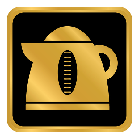 Electric kettle button on white background. Vector illustration. Illustration