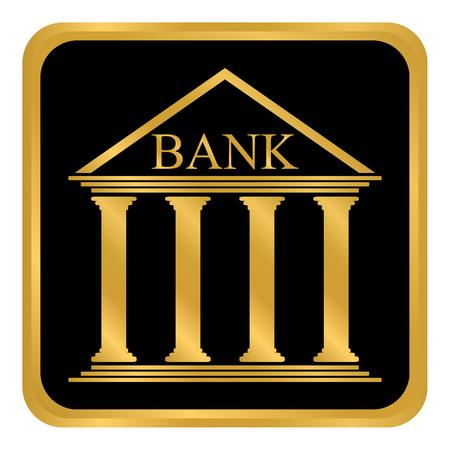 Bank button on white background vector illustration. Reklamní fotografie - 99920014