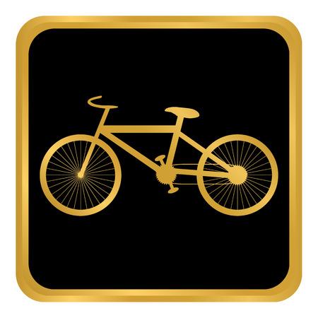 Bike button on white background. Vector illustration. Illustration
