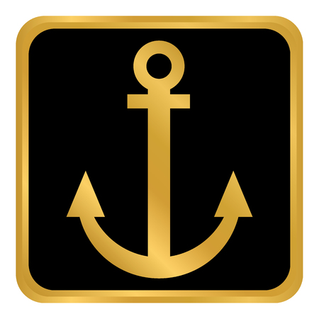 Anchor button on white background Vector illustration.
