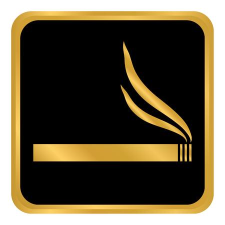 Cigarette button on white background. Vector illustration.