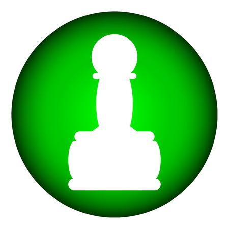 Chess pawn icon on white background. Vector illustration. Illustration