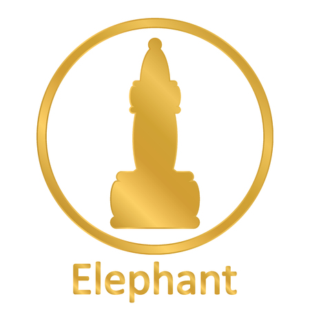 Chess elephant icon on white background. Vector illustration. Stock Illustratie