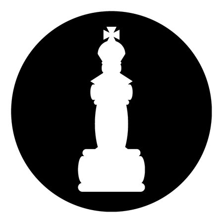 Chess queen icon on white background. Vector illustration.