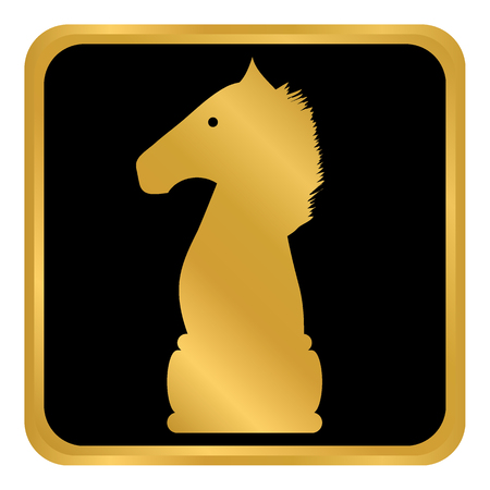 Chess elephant icon on white background. Vector illustration. Illustration