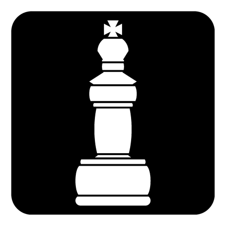 Chess queen icon on black background. Vettoriali