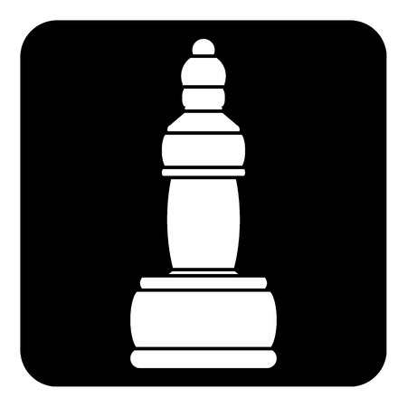Chess  icon on white background. Vector illustration.