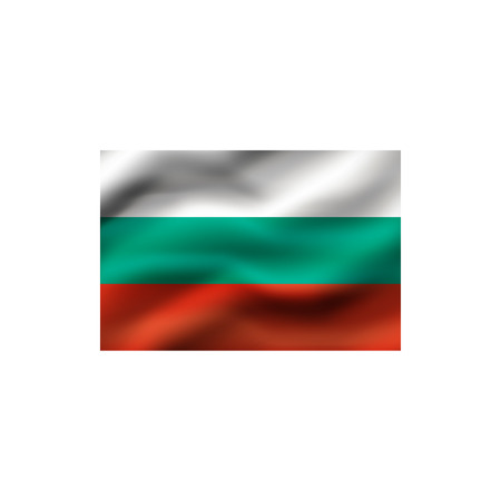 Flag of Bulgaria on white background. Illustration. Stock Photo