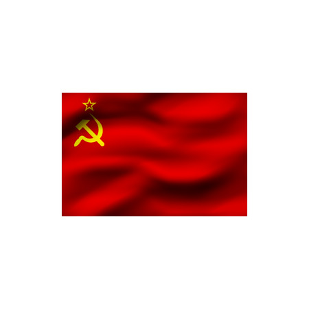 Flag of the Soviet Union on white background. Illustration.