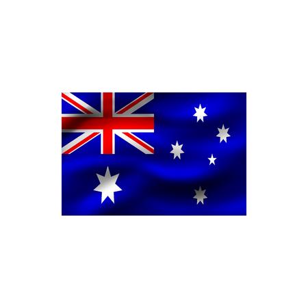 Flag of Australia on white background. Illustration.