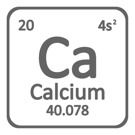 Periodic table element calcium icon on white background. Vector illustration. Imagens - 104391261
