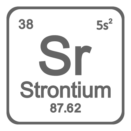 Periodic table element strontium icon on white background. Vector illustration. Imagens - 104391315