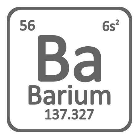Periodic table element barium icon on white background. Vector illustration. Ilustração