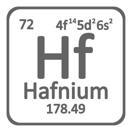 Periodic table element hafnium icon on white background. Vector illustration. Ilustração