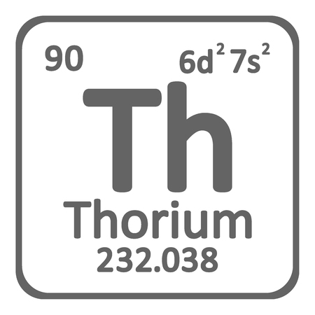 Periodic table element thorium icon on white background. Vector illustration.