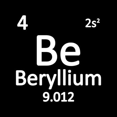 Periodic table element beryllium icon on white background. Vector illustration. Ilustração