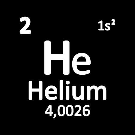 Periodic table element helium icon on white background. Vector illustration. Illustration