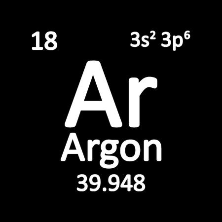 Periodic table element boron icon on white background. Vector illustration. Ilustração