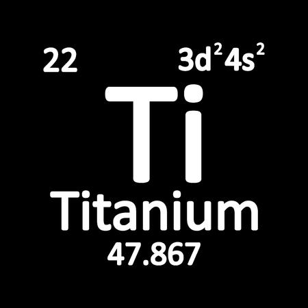 Periodic table element titanium icon on white background. Vector illustration.