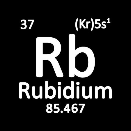 Periodic table element rybidium icon on white background. Vector illustration. Banco de Imagens - 104391963