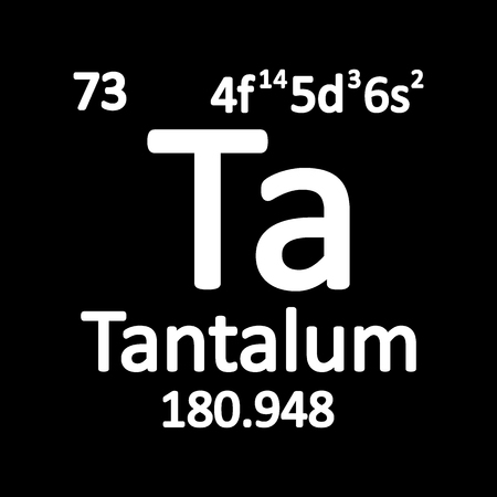 Periodic table element tantalum icon on white background. Vector illustration. Imagens - 104392250