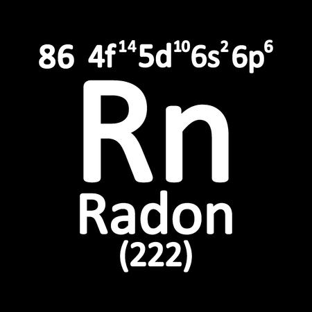 Periodic table element radon icon on white background. Vector illustration. Vector Illustration