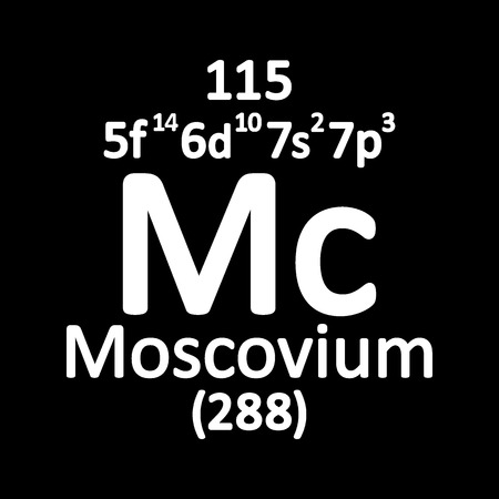 Periodic table element moscovium icon. Vector illustration.