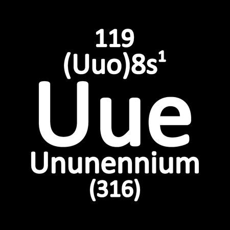 Periodic table element ununennium icon. Vector illustration. Banco de Imagens - 104392637