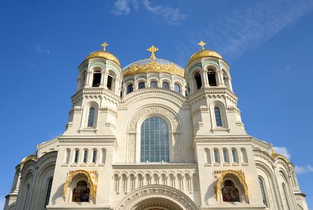 Naval Cathedral of St. Nicholas the Wonderworker in Kronstadt, Russia.