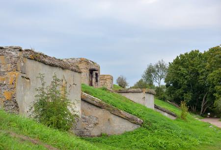 Fort Shants on the island of Kotlin in Saint Petersburg, Russia.