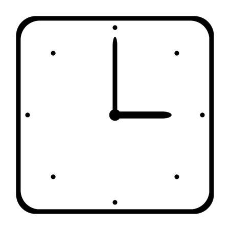 Clock icon on white background. Vector illustration.