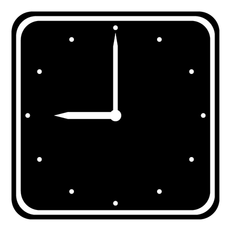 Clock icon on white background. Vector illustration.